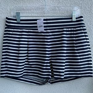 J. Crew Navy Striped Shorts